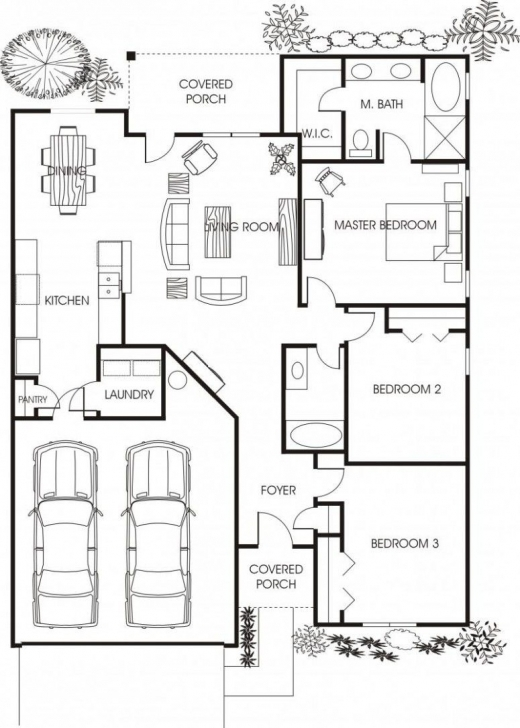 Interesting Minimalist Small House Floor Plans For Apartment: Beautiful Small Family House Plans Photo