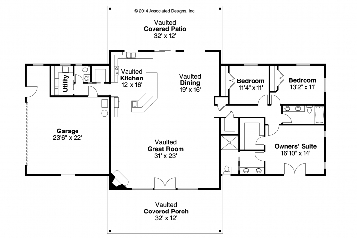 Interesting One Story Ranch House Plans House Plans Ranch Image