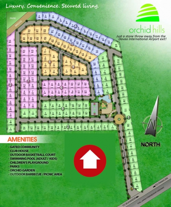 Interesting Orchid Hills: Asian Tropical Inspired Theme, Open Market Category Subdivision Floor Plan Pic