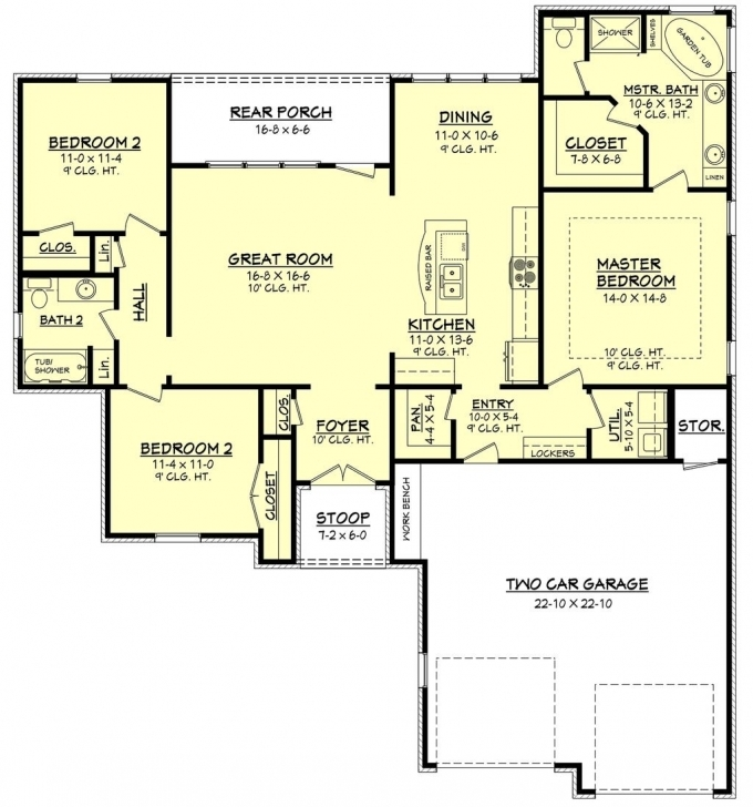 Interesting Plan 430-66 1600 Sq Ft 3 Beds 2.00 Baths | House Plans | Pinterest 1600 Sq Ft House Plans Photo