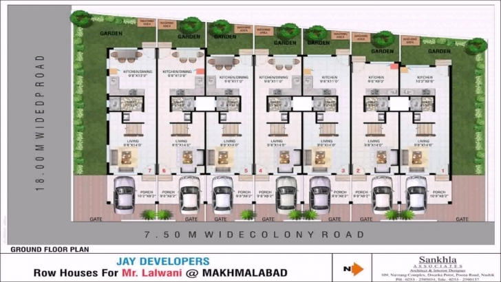 Interesting Row House Design With Floor Plan - Youtube Row House Floor Plans Pic