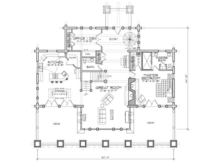 Interesting Stoneridge | Luxury Log Home Plan Luxury Log Home Floor Plans Image