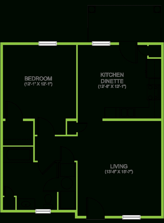 Interesting The Darien One Bedroom Apartment Floor Plans - Rent Lancaster Pa Apartments Rent Floor Plans Picture