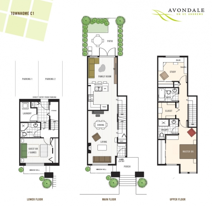 Interesting Townhome Floor Plans Churchill Townhomes Amp Bedroom Avondale Townhouse Floor Plans Image