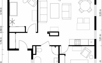 Latest 2 Bedroom Floor Plans | Roomsketcher Two Bedroom House Plans Picture