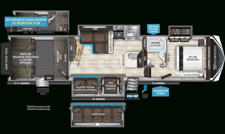 Latest 394M | Grand Design Toy Hauler Floor Plans Photo