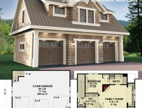 Latest Architectural Designs Carriage House Plan 14631Rk Gives You Parking Garage House Plans Pic