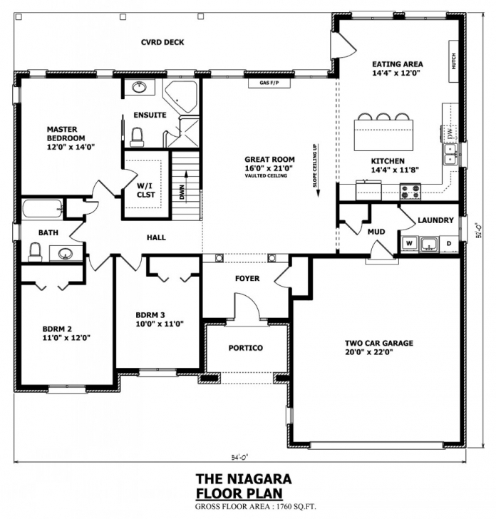 Latest Canadian Home Designs - Custom House Plans, Stock House Plans Cottage Floor Plans Ontario Photo