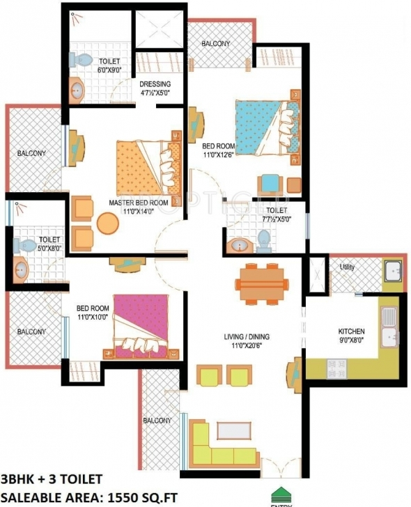 Latest Nimbus Hyde Park In Sector 78, Noida - Price, Location Map, Floor Hyde Park Floor Plan Picture