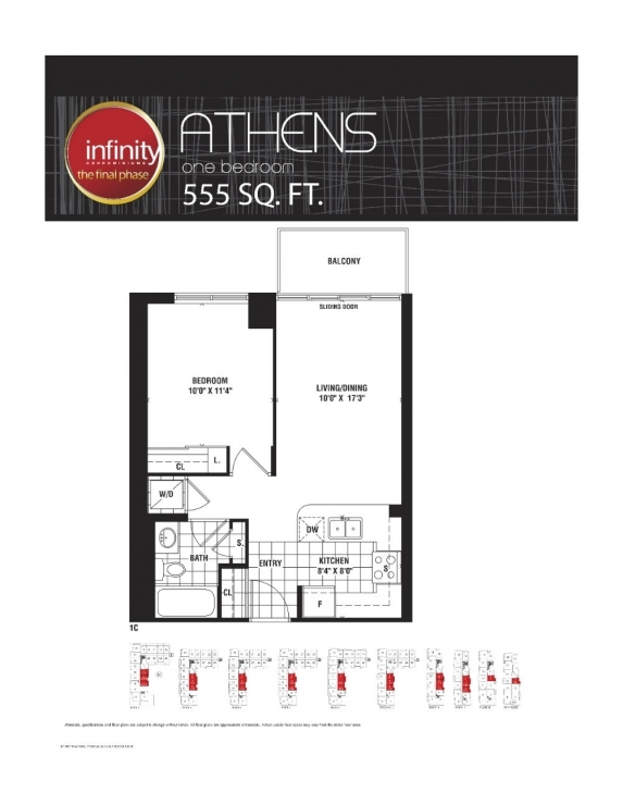 Marvelous Athens-555 – Infinity Condos At 19 & 30 Grand Trunk Cres & 25 & 51 Infinity Condo Floor Plans Image