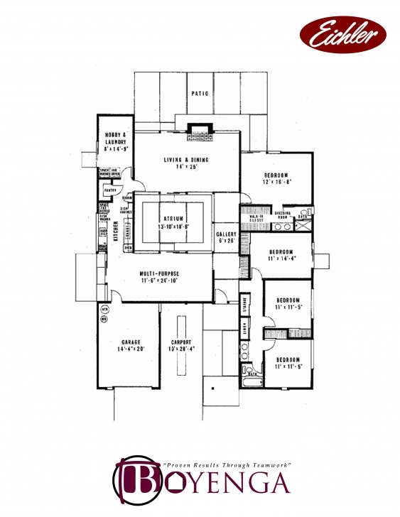 Marvelous Burlingame, Eichler Real Estate Floor Plans, Burlingame, Mid-Century Eichler Floor Plans Picture