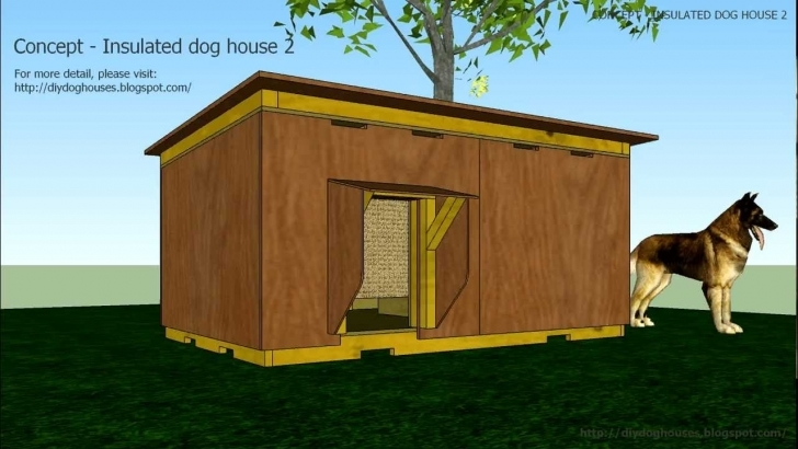 Marvelous Concept - Insulated Dog House 2 - Youtube Large Dog House Plans Pic