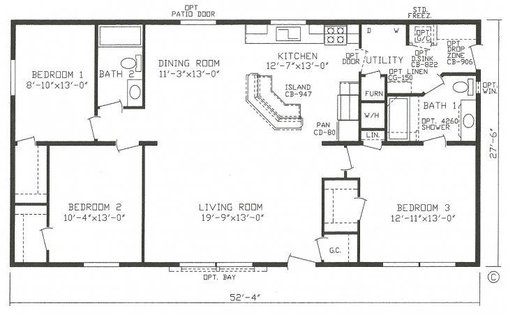 Marvelous Double Wide Mobile Home Floor Plans Best Of 23 New Mobile Homes Double Wide Homes Floor Plans Photo