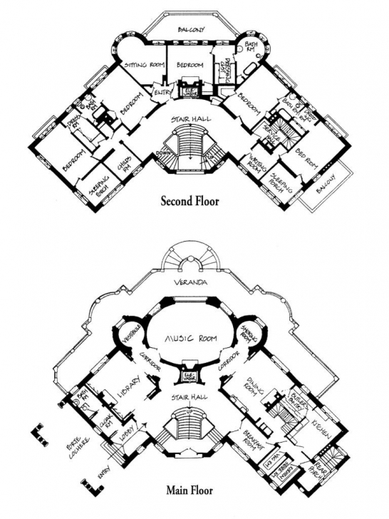 Marvelous Main And Second Floor Plans Of The Henry T. And Georgiana Pittock Pittock Mansion Floor Plan Pic