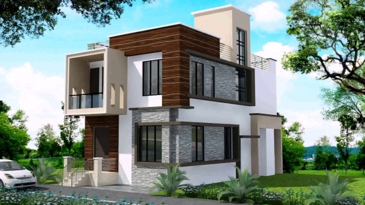 Marvelous Modern Duplex House Designs In India - Youtube Modern Duplex House Plans Photo