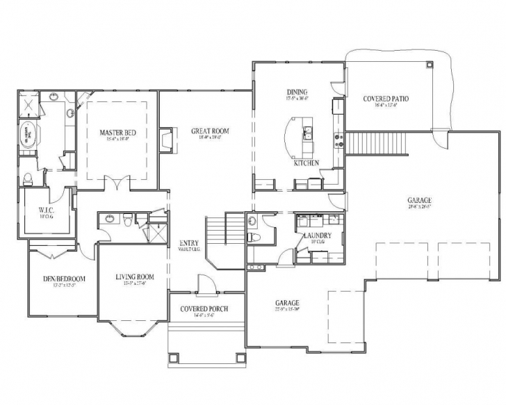 Marvelous Rambler House Plans | The Mcmillan Floor Plan – Signature Collection Rambler House Plans Picture