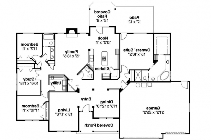 Marvelous Ranch House Plan - Pleasanton 30-545 - Floor Plan | Home Layouts Ranch House Floor Plans Picture