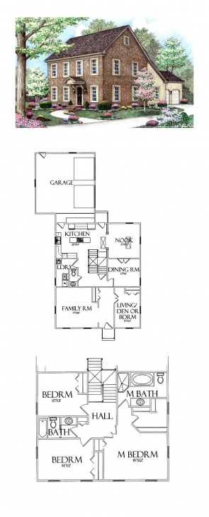 Marvelous Saltbox House Plan 64402 | Total Living Area: 2370 Sq. Ft., 5 Saltbox House Plans Picture