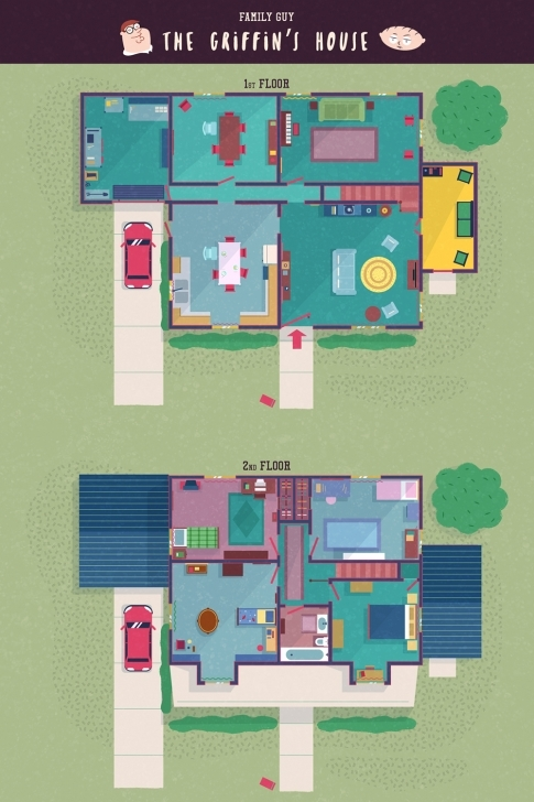 Marvelous Tv Show Floor Plans From Corrie, Will And Grace, Peaky Blinders And More Family Guy House Floor Plan Picture