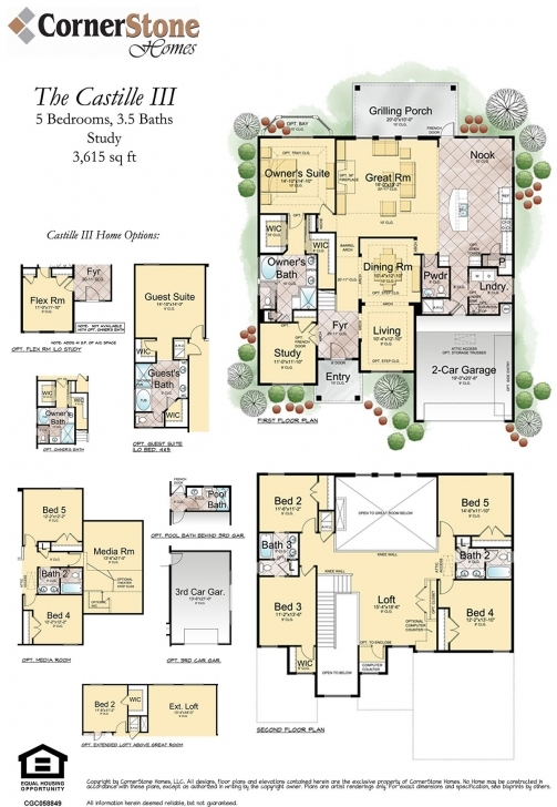 Most Inspiring Cornerstone Homes Castille-Iii-New-Floorplan-Brochure-10-21-14 Floor Plan Brochure Image