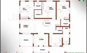 Most Inspiring Kerala House Plan Photos And Its Elevations, Contemporary Style Single Floor 4 Bedroom House Plans Kerala Pic