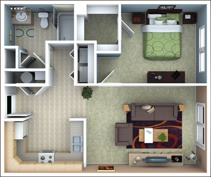 Most Inspiring Richmond Apartments | Floor Plans 1 Bedroom House Plans Photo