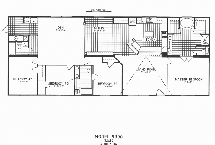 Must See 3 Bedroom Single Wide Mobile Home Floor Plans Fresh 3 Bedroom Large Modular Home Floor Plans Picture