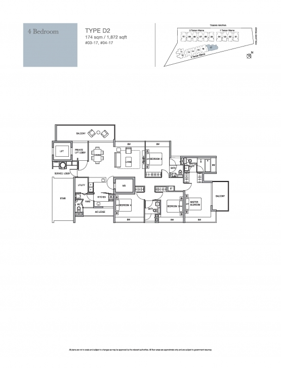 Must See 4 Bedroom - Holland Residences Holland Residences Floor Plan Picture