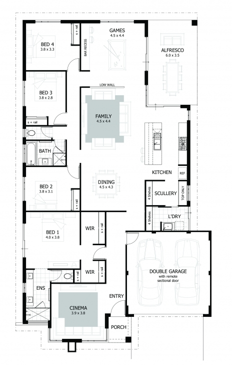 Must See 4 Bedroom House Plans & Home Designs | Celebration Homes Square House Plans Image