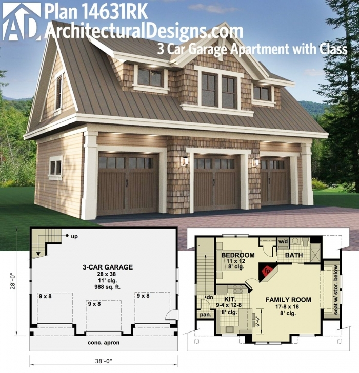 Must See Architectural Designs Carriage House Plan 14631Rk Gives You Parking Carriage House Floor Plans Picture