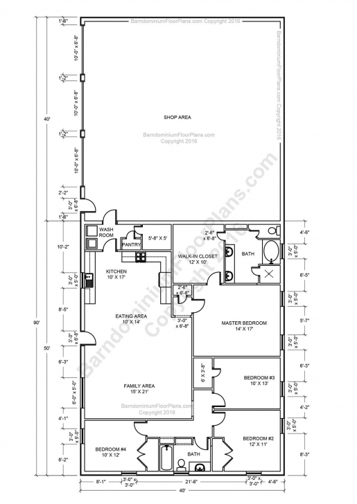 Must See Barndominium Floor Plans, Pole Barn House Plans And Metal Barn Homes Barn House Floor Plans Pic