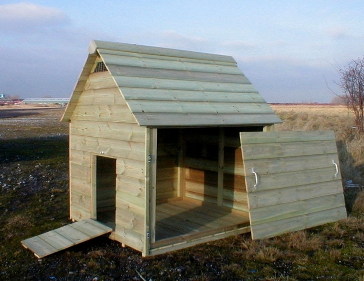 Must See Duck Coops | You're Viewing : Naburn Duck House, Hinged Door To Act Duck House Plans Image