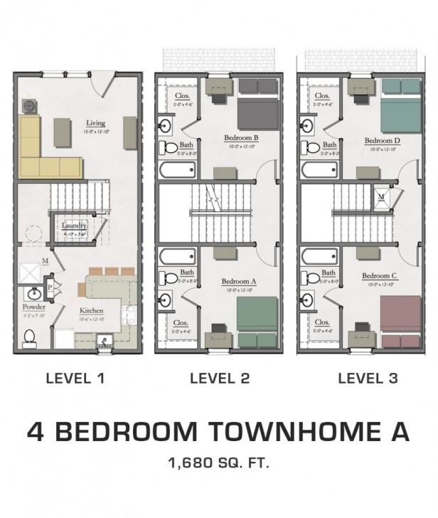 Must See Floor Plans For Msu Students | Student Housing In East Lansing Townhome Floor Plans Pic