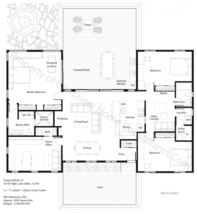 Must See H Shaped Container Home Plan | House Planes | Pinterest | Bath Container House Plans Image