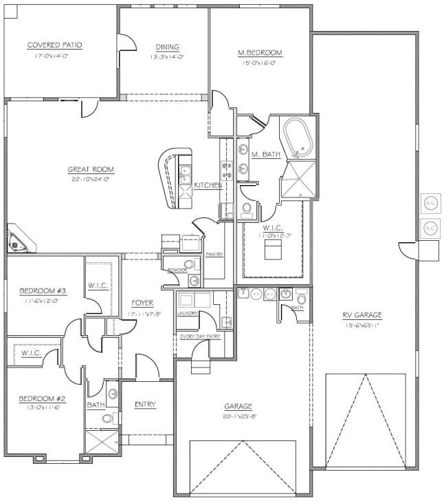 Must See House Plans With Rv Garage Attached New Homes With Rv Garage Floor House Plans With Rv Garage Attached Photo