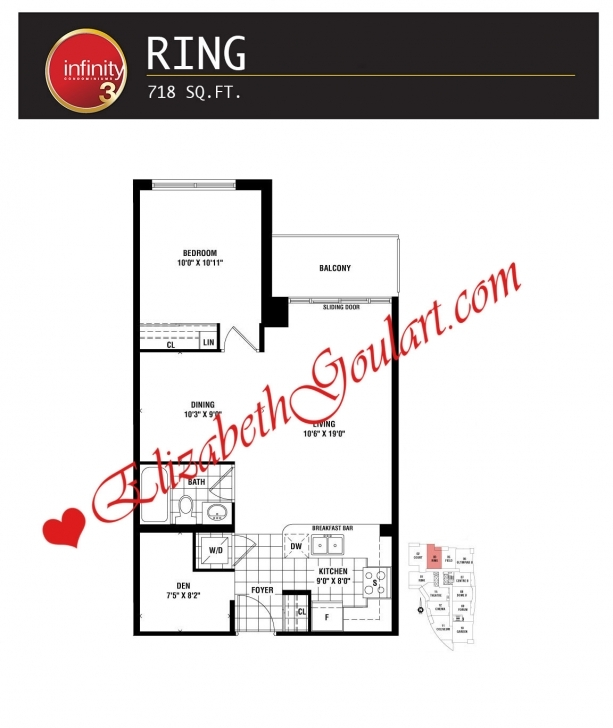 Must See Infinity Condos | 19/30 Grand Trunk | 25/51 Lower Simcoe | Elizabeth Infinity Condo Floor Plans Image