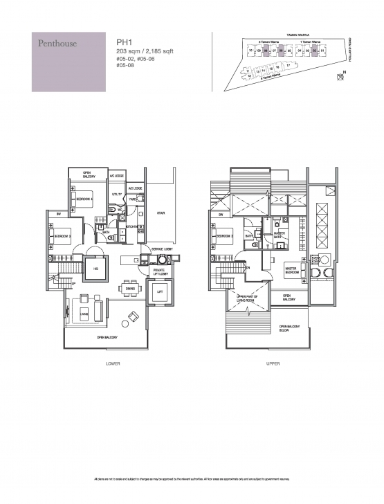 Must See Penthouse-4 Bed - Holland Residences Holland Residences Floor Plan Photo
