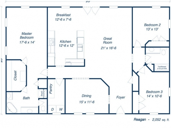 Must See Plans Furthermore 30 X 50 House Floor Plans Besides Barndominium Metal Building House Plans Pic