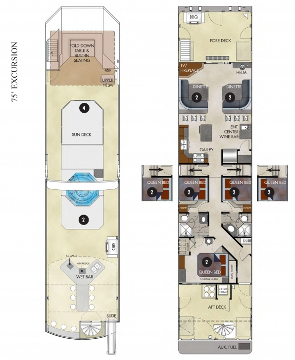 Must See Pontoon Houseboat Floor Plans Awesome House Boat Plans Houseboat Pdf Houseboat Floor Plans Image