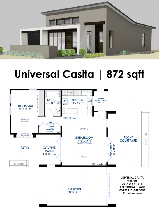 Must See Universal Casita House Plan | 61Custom | Contemporary & Modern House Casita House Plans Picture