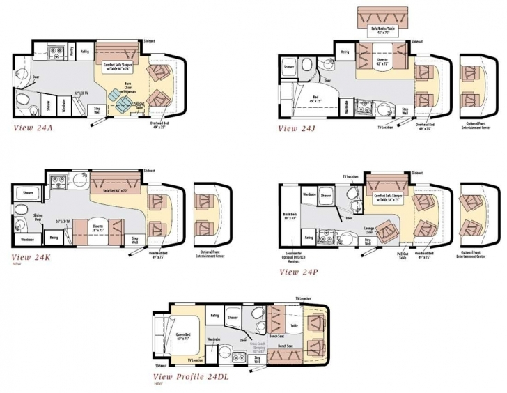 Must See Winnebago View Class C Motorhome Floorplans | Favorite Places Winnebago View Floor Plans Image
