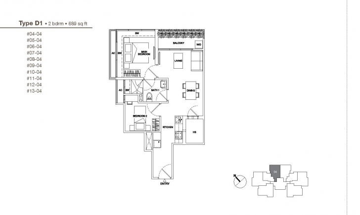 Outstanding 2 Bedroom - Regent Residences Regent Residences Floor Plan Photo