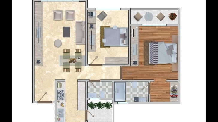 Outstanding 2D Floor Plan Rendering In Adobe Photoshop Cc - Youtube Rendered Floor Plan Picture
