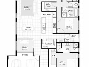 Outstanding 4 Bedroom House Plans & Home Designs | Celebration Homes House Floor Plan Photo
