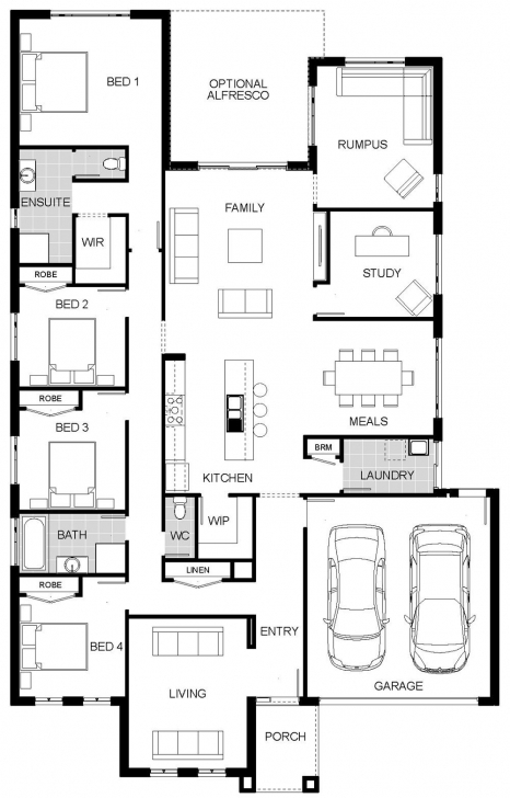 Outstanding 4 Bedroom House Plans With Butlers Pantry Luxury Floorplan Arcadia House Plans With Butlers Pantry Picture