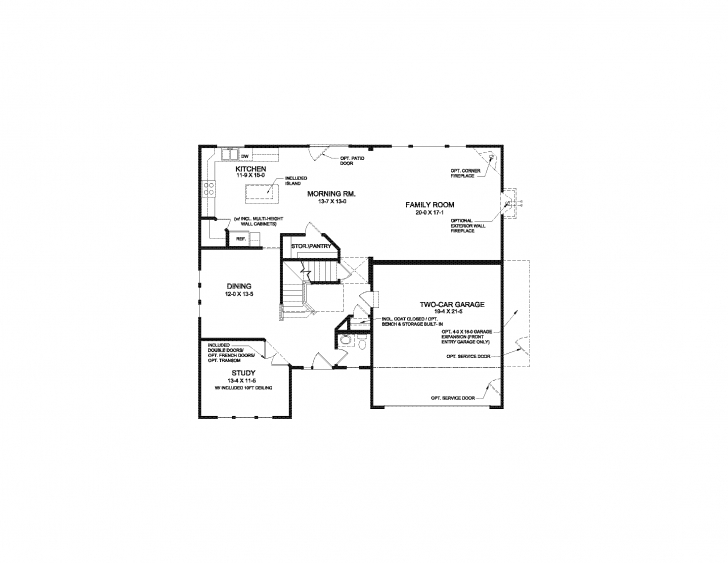 Outstanding Bradford - Floor Plan | Fischer Homes Bradford Floor Plan Picture