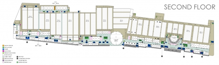 Outstanding Floor Plans - Ernest N. Morial Convention Center La Convention Center Floor Plan Photo