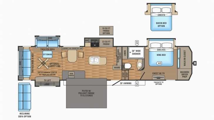 Outstanding Front Kitchen Fifth Wheel Floor Plans New Denali Fifth Wheel Floor 5th Wheel Floor Plans Image