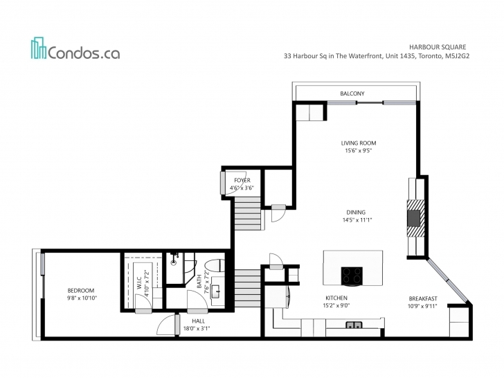 Outstanding Harbour Square - Unit 1435 For Sale | Condos.ca 55 Harbour Square Floor Plans Image