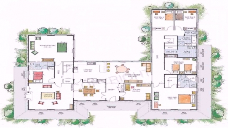 Outstanding House Plans U Shaped Floor Plan - Youtube U Shaped House Plans Pic